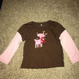 Carter's Reindeer Size 3T Pajama Set